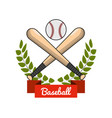 emblem baseball play icon vector image vector image