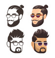 fashion male haircute and shaven beard set vector image vector image