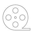 film strip black color path icon vector image vector image