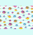 fish pattern seamless endless vector image vector image