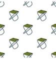 Folding stool icon in cartoon style isolated on