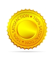 golded satisfaction tag vector image