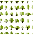 Green trees seamless pattern for your design vector image vector image