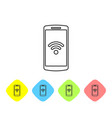 grey smartphone with free wi-fi wireless vector image vector image