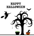 halloween patty silhouettes vector image vector image