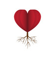 heart love root flat icon vector image vector image