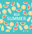 hello summer concept card background with color vector image