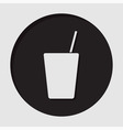 information icon - drink with straw vector image vector image