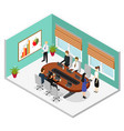 interior office conference room isometric view vector image