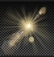 lighting spark on transparent background vector image vector image