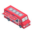 meat food truck icon isometric style vector image vector image