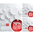 Merry Christmas background discount percent vector image