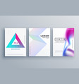 minimal cover template design set in clean style vector image vector image