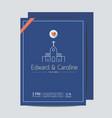 minimal wedding invitation card template vector image vector image