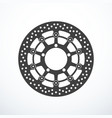 motorcycle brake disc isolated vector image vector image