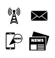 news simple related icons vector image vector image