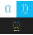 Number zero 0 logo design icon set background vector image vector image