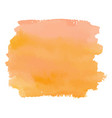 orange color watercolor hand drawn gradient banner vector image vector image