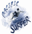 Pacific surfer vector image vector image