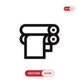 paper roll icon vector image