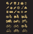 racing motorcycle bicycle motorbike parts and vector image vector image