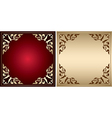 red and gold frames with vintage decorations vector image vector image