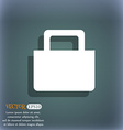 sale bag icon symbol on the blue-green abstract vector image