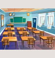 school or university classroom cartoon vector image vector image