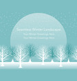 seamless snowy landscape vector image vector image