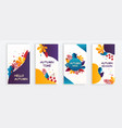 set autumn banners or card templates vector image