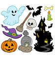set of halloween images vector image vector image