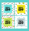 set of mobile banners summer sale vector image