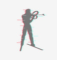 shooting from a standing position in biathlon vector image vector image