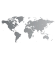 Silver world map vector | Price: 1 Credit (USD $1)