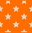 starfish pattern seamless vector image
