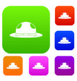 summer hat set color collection vector image vector image