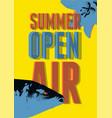 summer open air fest retro grunge pop-art poster vector image vector image