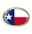 texas state flag oval button vector image vector image