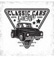 vintage cars garage emblem vector image vector image