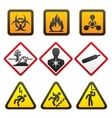 warning symbols hazard signssecond set vector image vector image
