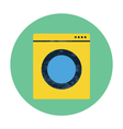 washing machine flat icon vector image vector image