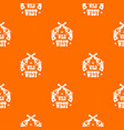 wild west revolver pattern orange vector image vector image