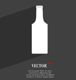 bottle icon symbol Flat modern web design with vector image