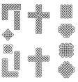 celtic style endless knot symbols in black white vector image