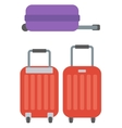 Modern large suitcases on wheels vector image