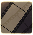 old filmstrip background vector image