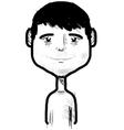 Smiling boy sketch vector image