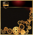 abstract gears background vector image vector image