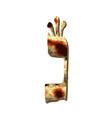alphabet hebrew passover matzah hebrew letter nun vector image vector image