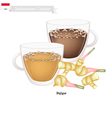 Bajigur or Indonesian Hot and Sweet Coffee vector image vector image
